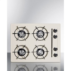 """Summit24"""" Wide Cooktop In Bisque, With Four Burners And Battery Start Ignition; Replaces Stl03p"""