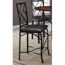 Sanford Merlot Barstool with Brown Seat