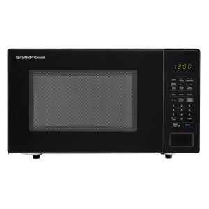 1.4 cu. ft. 1000W Sharp Black Countertop Microwave Oven -