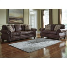 Benchcraft Breville Living Room Set in Espresso Faux Leather
