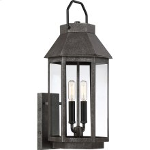 Campbell Outdoor Lantern in Speckled Black