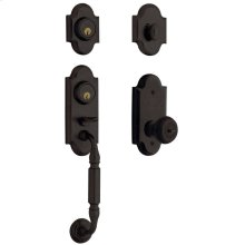 Distressed Oil-Rubbed Bronze Ashton Two-Point Lock Handleset