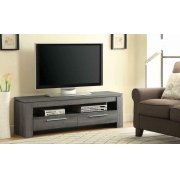 Transitional Weathered Grey TV Console Product Image