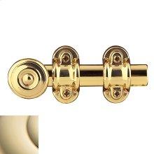 Lifetime Polished Brass Ornamental Heavy Duty Surface Bolt