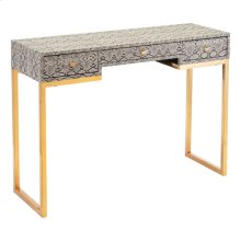Lecce Snake Skin Console Table White