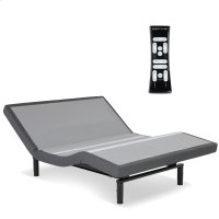 S-Cape 2.0 Adjustable Bed Base with Wallhugger Technology and Full Body Massage, Charcoal Gray Finish, Queen Product Image