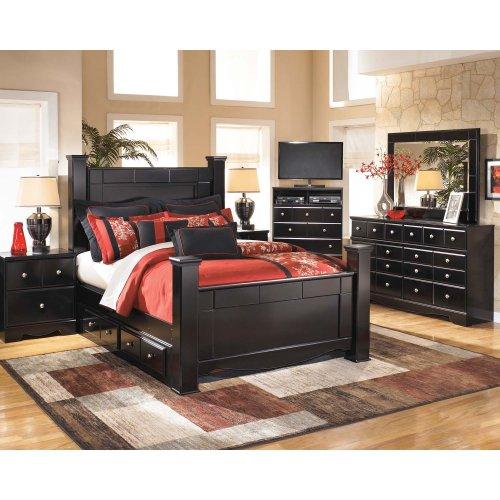 Shay - Almost Black 5 Piece Bedroom Set