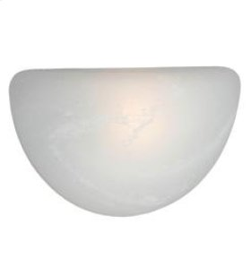 Multi-Family 1 Light Wall Sconce with Marbled Glass