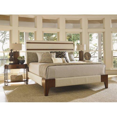 Mandarin Upholstered Panel Bed King