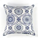 "L113 Ivory/blue Mosaic Pillow 18"" X 18"" Product Image"