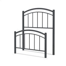 Rylan Kids Bed with Metal Duo Panels, Black Ink Finish, Full