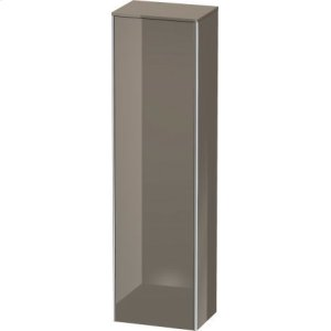 Tall Cabinet, Flannel Gray High Gloss Lacquer