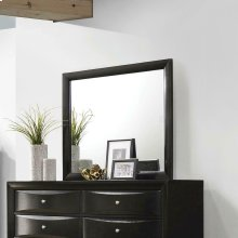 Briana Black Dresser Mirror