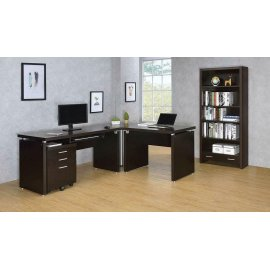 Skylar Contemporary Cappuccino Corner Table