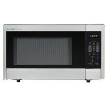 1.1 cu. ft. 1000W Sharp Stainless Steel Carousel Countertop Microwave Oven (R-331ZS)