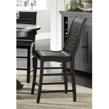 Counter Chair - Distressed Black Finish