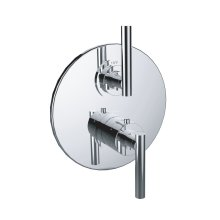 """7097tj-tm - 1/2"""" Thermostatic Trim With Volume Control and 2-way Diverter in Satin Rose Gold"""