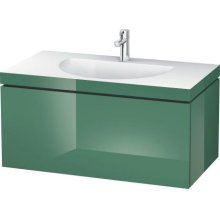 Furniture Washbasin C-bonded With Vanity Wall-mounted, Jade High Gloss Lacquer