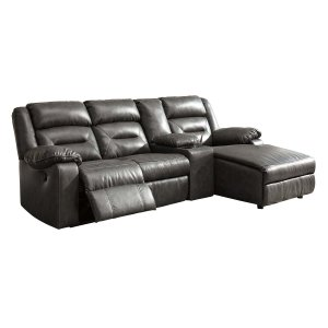 Ashley Furniture Coahoma - Dark Gray 4 Piece Sectional