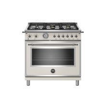 36 inch All Gas Range, 6 Brass Burners Avorio