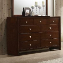 Serenity Rich Merlot Nine-drawer Dresser
