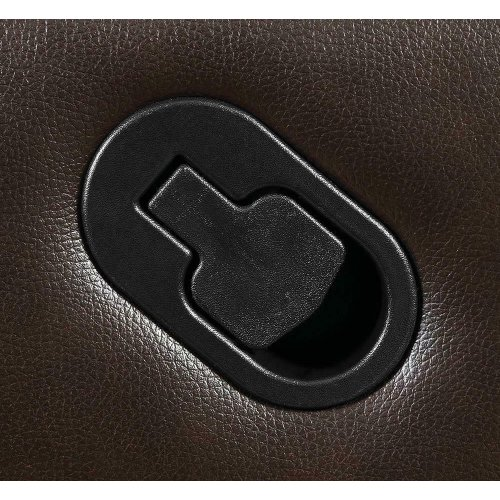 Macpherson Brown Leather Glider Recliner