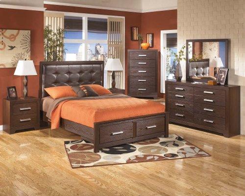 Queen Panel Storage Bed