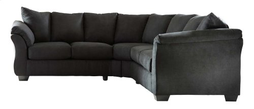 Darcy - Black 2 Piece Sectional