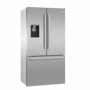 Bosch500 Series French Door Bottom Mount Refrigerator 36'' Easy clean stainless steel B36CD50SNS
