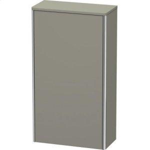 Semi-tall Cabinet, Stone Gray Satin Matt Lacquer