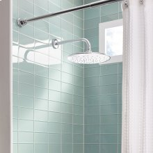Wall Mount Right Angle Shower Arm - Polished Chrome