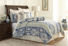 9pc Queen Comforter Set Cadet