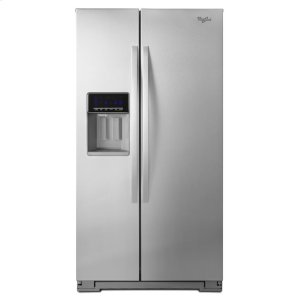 36-inch Wide Side-by-Side Refrigerator with Temperature Control - 26 cu. ft. - MONOCHROMATIC STAINLESS STEEL