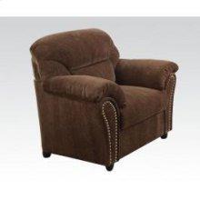 Dark Brown Chenille Chair