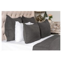 Cressida Charcoal 4Pc King Set