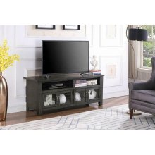 "Transitional Dark Grey 60"" TV Console"