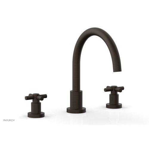 BASIC Deck Tub Set - Tubular Cross Handles D1134C - Antique Bronze