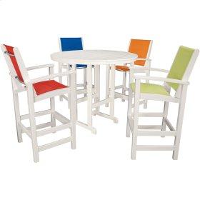Nassau 5-Piece High Dining Set