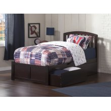 Richmond Twin XL Flat Panel Foot Board with 2 Urban Bed Drawers Espresso