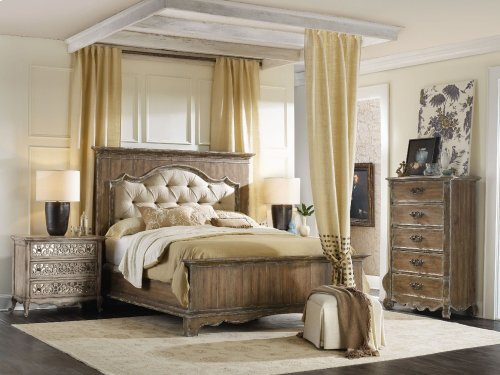 Bedroom Chatelet King Upholstered Mantle Panel Bed