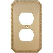 Duplex Receptacle Beaded Switchplate in (US3 Polished Brass, Lacquered)