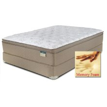 "Comfortec - Dorchester - Memory Foam - 15"" Euro Box Top - Queen"