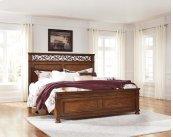 Lazzene - Medium Brown 3 Piece Bed Set (King)