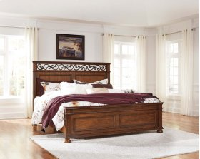 Lazzene - Medium Brown 3 Piece Bed Set (King)