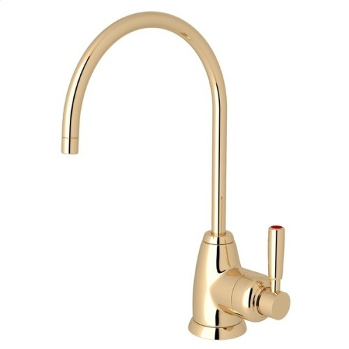 English Gold Perrin & Rowe Holborn C-Spout Hot Water Faucet