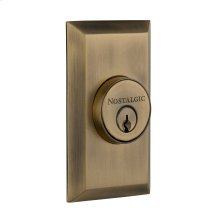 Nostalgic - Double Cylinder Deadbolt Keyed Differently - Studio in Antique Brass