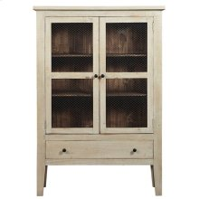 Display Cabinet - Washed Linen/Pine Finish