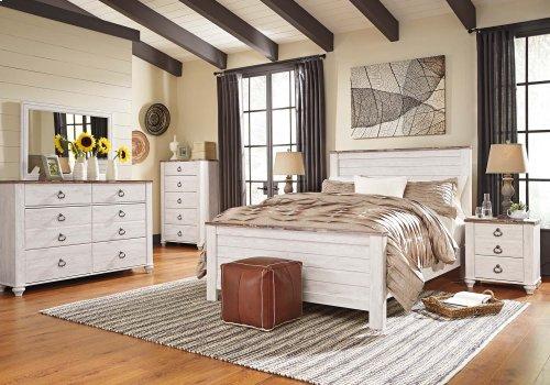 Willowton - White Wash 3 Piece Bed Set (Queen)