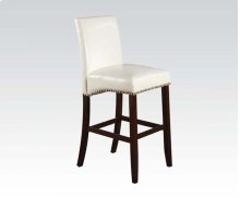 WHITE PU BAR CHAIR