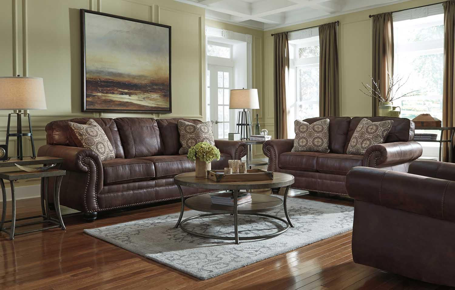 Ashley Furniture 80003 Breville   Espresso Living Room Set Houston Texas  USA Aztec Furniture.